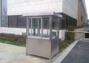 方型不锈钢停车场收费亭-04