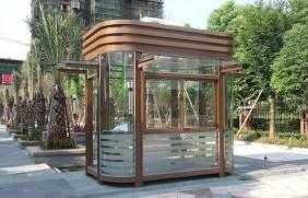 钢结构玻璃岗亭-19