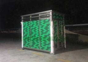 不锈钢垃圾分类收集房-12